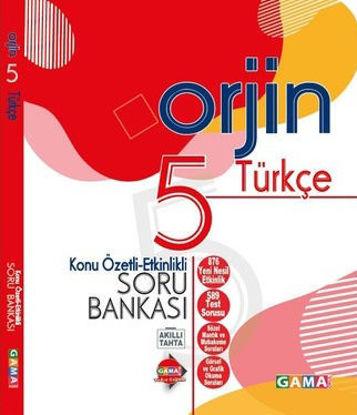 Orjin 5 Türkçe Konu Özetli Soru Bankası resmi