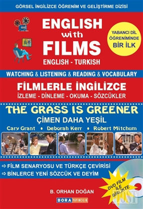 English with Films The Grass is Greener Dvd Film ile Birlikte