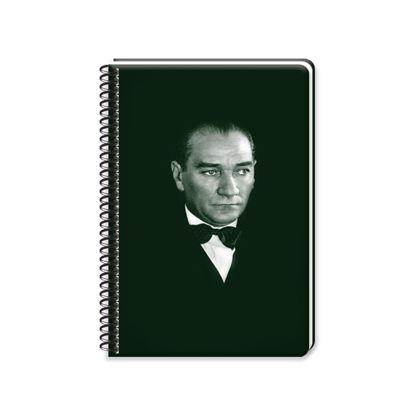 Atatürk  17*24 120 Yp. Çizgili Spiralli Sert Kapak Defter resmi