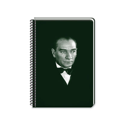 Atatürk 17*24 120 Yp.Kareli Spiralli Sert Kapak Defter resmi