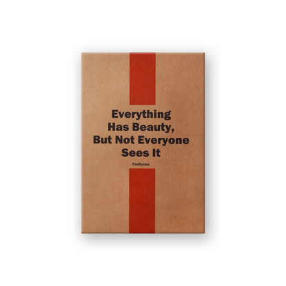 Container Quotesonkraft Everything Has Beauty,But Not Everyone A5 32Yp.Noktalı resmi