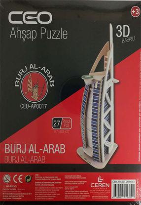 Ahşap 3D Burj Al-Arab resmi