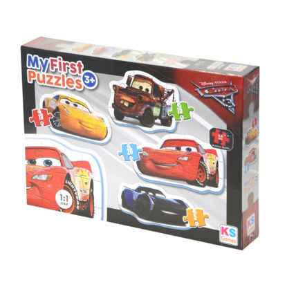 Cars My First Puzzle 4 in 1   5P - 10P - 15P - 20P resmi