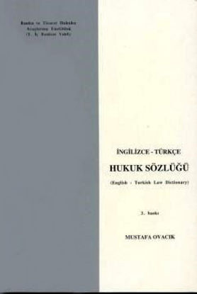 Hukuk Sözlüğü İngilizce-Türkçe resmi