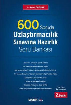 600 Soruda Uzlaştırmacılık Sınavına Hazırlık Soru Bankası resmi