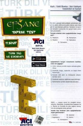 11.Sınıf Türk Dili Ve Edebiyatı Yaprak Test resmi