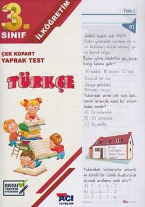 3.Sınıf Türkçe Yaprak Test resmi