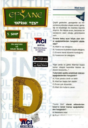 5.Sınıf Din Kültürü Yaprak Test resmi