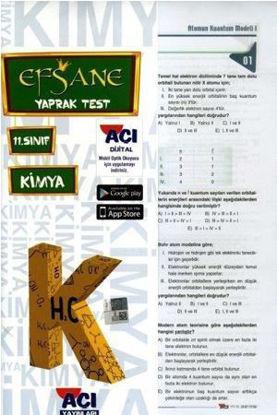 11.Sınıf Kimya Yaprak Test resmi