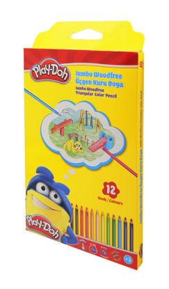 Play-Doh Kuruboya Jumbo Üçgen 12 Renk resmi