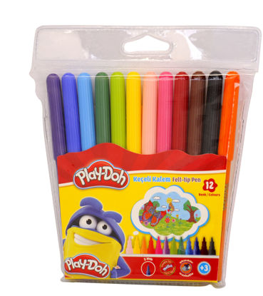 Play-Doh Keçeli Kalem 12 Renk resmi