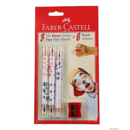 Faber-Castell Yüz Boyası 6 Renk resmi