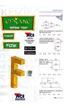 10.Sınıf Fizik Yaprak Test resmi
