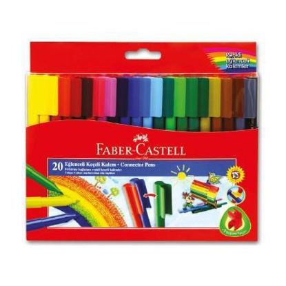Faber-Castell Keçeli Boya Kalemi Eğlenceli 20 Renk resmi