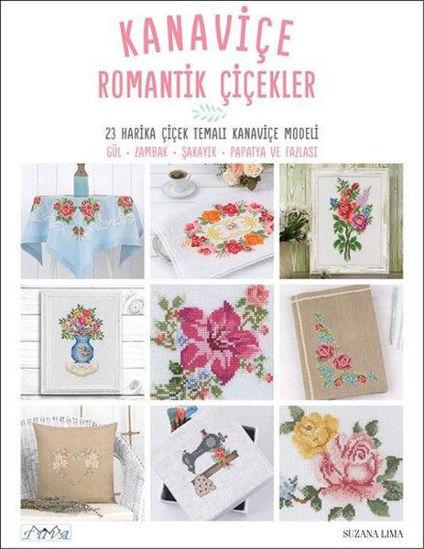 Kanaviçe Romantik Çiçekler resmi
