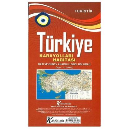 Turistik Türkiye Karayolları Haritası resmi