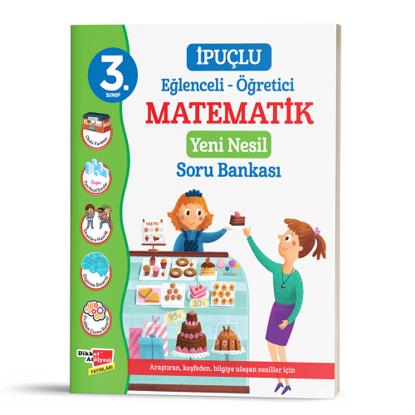 3. Sınıf İpuçlu Eğlenceli - Öğretici Matematik Yeni Nesil Soru Bankası resmi