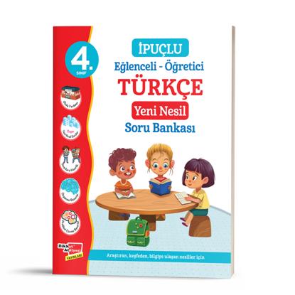 4. Sınıf Eğlenceli - Öğretici İpuçlu Türkçe Yeni Nesil Soru Bankası resmi