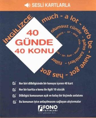 40 Günde 40 İngilizce Konu - Sesli Kartlarla resmi