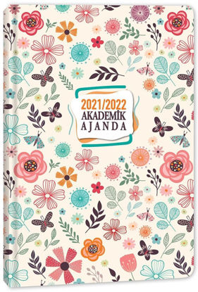 Akademik Ajanda - Floral resmi