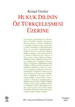Hukuk Dilinin Öz Türkçeleşmesi Üzerine resmi