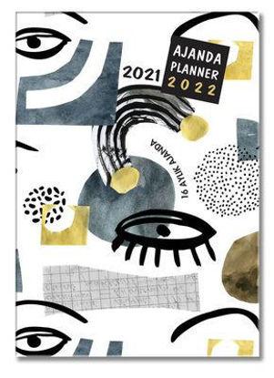 Blue 2021-2022 16 Aylık Ajanda resmi